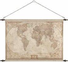 World Map Wall Decoration 117x129