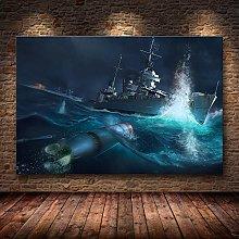 World of Warship Beautiful Anime Print Poster Wall