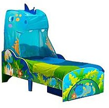 Worlds Apart Dinosaur Toddler Bed with Canopy and
