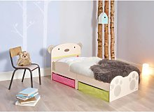 Worlds Apart Toddler Bed with Drawers Bear Hug