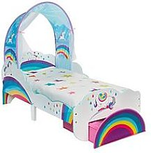 Worlds Apart Unicorn and Rainbow Toddler Bed with