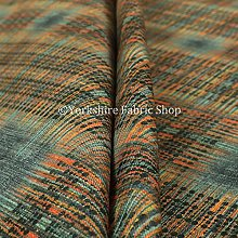 Worn Out Blue Tartan Effect Pattern Velour Velvet
