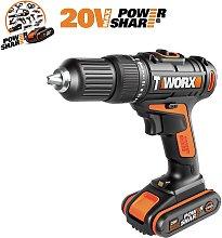 WORX WX386.4 18V 20V MAX Cordless Hammer Drill