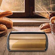 wosume Bread Box, Gold Retro Metal Bread Bin Box