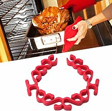 wosume Roasting Rack, Silicone Non-Stick Microwave