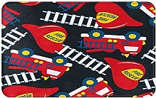 WOTAKA carpet bath mat,rug,Fire Rescue With Red