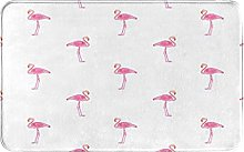 WOTAKA carpet bath mat,rug,Flamingos Pattern With