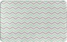 WOTAKA carpet bath mat,rug,Green White For Light