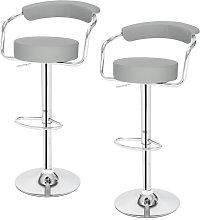 Wottes - 2 pcs modern bar stool adjustable height