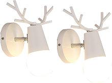 Wottes - 2 pcs Personality antler wall light