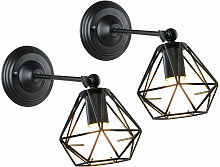 Wottes - 2 pcs Vintage industrial style wall