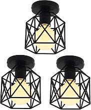 Wottes - 3 pcs Industrial ceiling lamp, E27