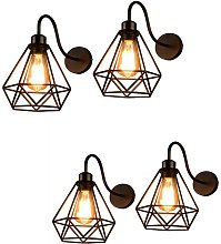 Wottes - 4 pcs Industrial wall light, creative