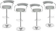 Wottes - 4 pcs modern bar stool adjustable height