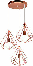 Wottes - E27 adjustable cage pendant light indoor