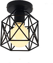 Wottes - E27 Retro industrial metal ceiling lamp,