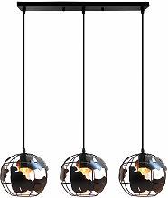 Wottes - Vintage globe pendant light, 3 lamps