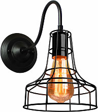 Wottes - Vintage industrial wall light, E27 metal
