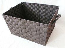 Woven Basket Symple Stuff Colour: Dark Brown