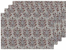 Woven Branches Pattern Woven Linen Texture Floral