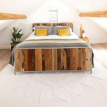 Woven Cotton Flatweave Cream Tufted Hi-Low Pile