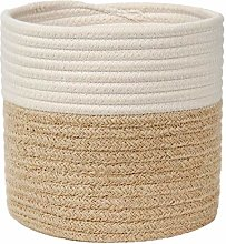 Woven Cotton Rope Plant Basket for Flowers Pot