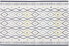 Woven Ecru Outdoor Rug with Multicoloured Graphic