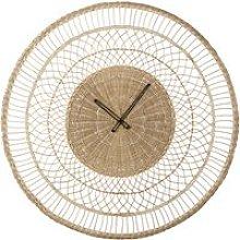 Woven plant fibre clock D82cm