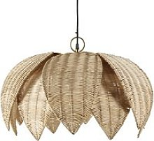 Woven Plant Fibre Flower Pendant Light