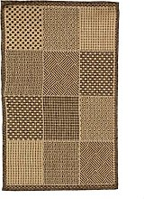 Woven Square Rug, Various Patterns, 110 cm x 60