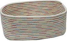 Woven Storage Basket Bin Colorful Cotton Rope Soft