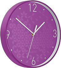 Wow 29cm Silent Wall Clock Leitz Colour: Purple