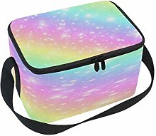 WowPrint Insulated Lunch Bag, Abstract Glitter
