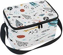 WowPrint Insulated Lunch Bag, Cartoon Galaxy