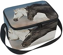 WowPrint Insulated Lunch Bag, Horse Pattern