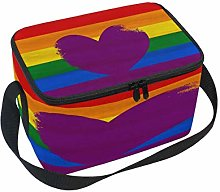 WowPrint Insulated Lunch Bag, Rainbow Gay Pride