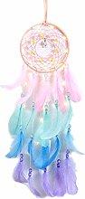 WOYA Dream Catcher Net With Feathers Beads Wind
