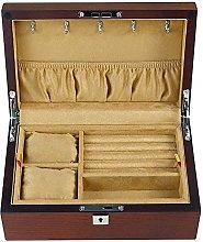 WOZUIMEI 2 Layer Wooden Jewellery Box Storage Box