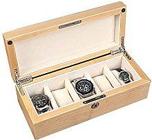 WOZUIMEI 5-Slot Wristwatch Box Collector Wood