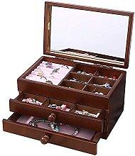 WOZUIMEI Girls Jewellery Storage Box Organiser