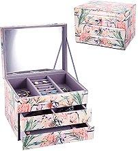 WOZUIMEI Glass Jewelry Box Decorative Keepsake Box