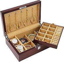 WOZUIMEI Jewellery Box Organiser Wood Veneer