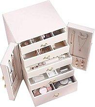 WOZUIMEI Jewellery Box Storage with 5 Drawers 2