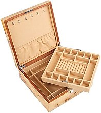 WOZUIMEI Wooden Jewellery Box Organiser Double