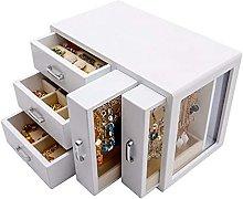 WOZUIMEI Wooden Multi-Layer Jewellery Box Storage