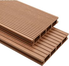 WPC Decking Boards with Accessories 40 m2 2.2 m