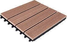 WPC Decking Tiles Patio Garden Terrace Outdoor