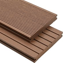 WPC Solid Decking Boards with Accessories 10m2