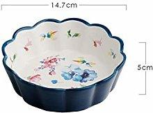 WPOS 5.8 Inch Ceramic Bowl Fruit Salad Tableware