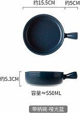 WPOS Fruit Ceramic Bowl With Handle Instant Noodle